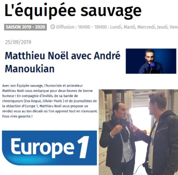 Interview Europe 1 - 25sept2019